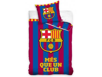 Povlečení FC Barcelona Més stripes 140/200, 70/80 cm