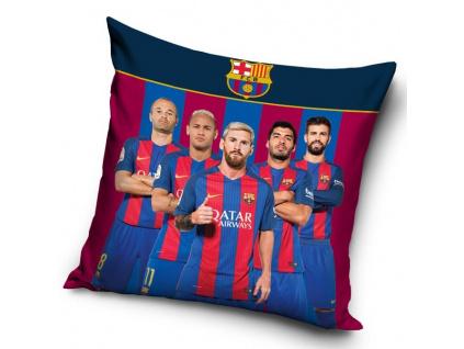 Povlak na polštářek FC Barcelona hráči 17 40x40cm