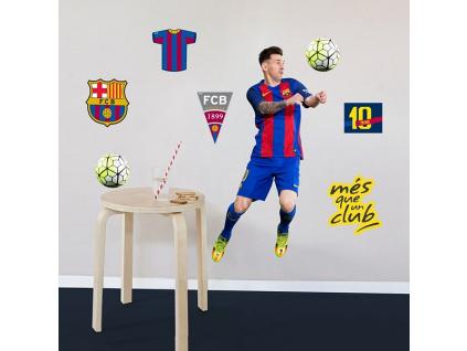 Samolepící dekorace FC Barcelona Messi 2 archy A3