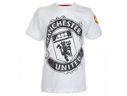 Tričko Manchester United JR bílé