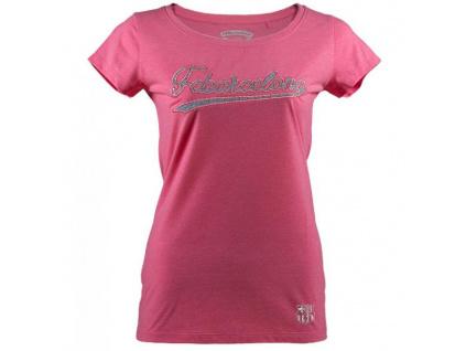 Dívčí tričko FC Barcelona dark pink