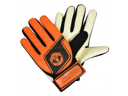Brankářské rukavice Manchester United oranžové dětské