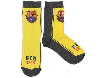 Ponožky FC Barcelona JR žluté