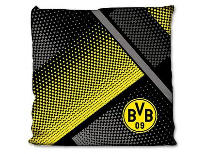 Polštářek Borussia Dortmund káro 40x40 cm