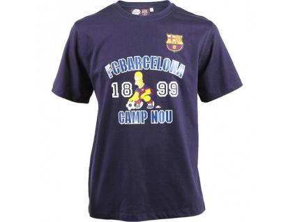 Tričko FC Barcelona Simpsons JR Homer navy