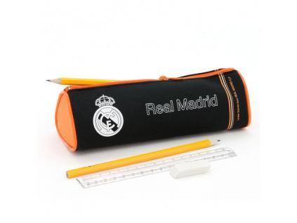 Penál Real Madrid černooranžový kulatý