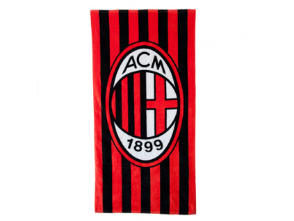 Osuška AC Milán pruhovaná 70 x 140 cm