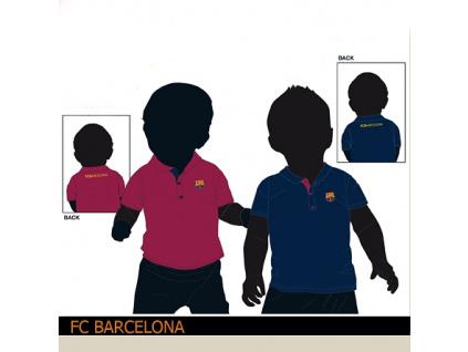 Dětské polo FC Barcelona modré