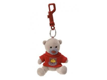 Mini medvídek West Ham United FC na klíče