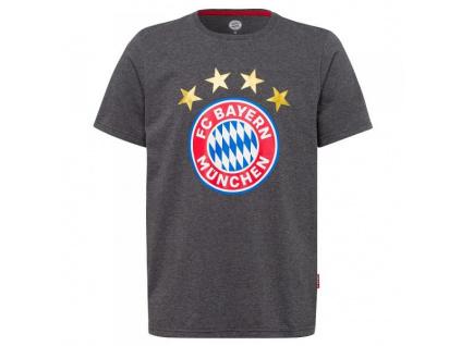 Tričko Bayern Mnichov logo antracit
