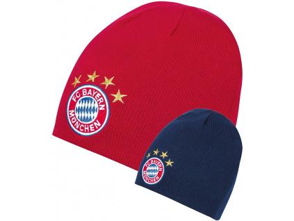 Dětská zimní čepice FC Bayern Mnichov oboustranná