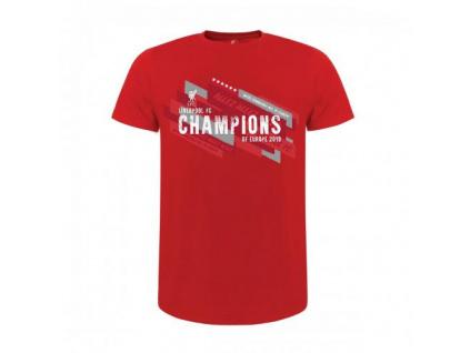 Pánské tričko Liverpool FC Champions Of Europe