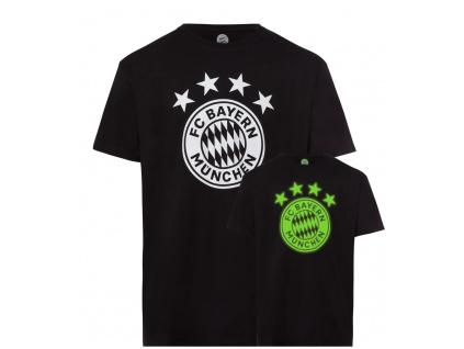 Pánské tričko Bayern Mnichov glow černé