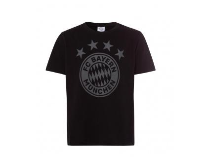 Dětské tričko Bayern Mnichov emblem černé