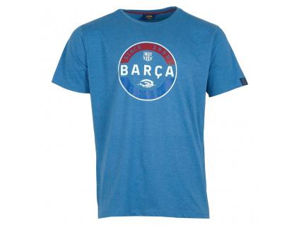 tricko fc barcelona stamp modre19