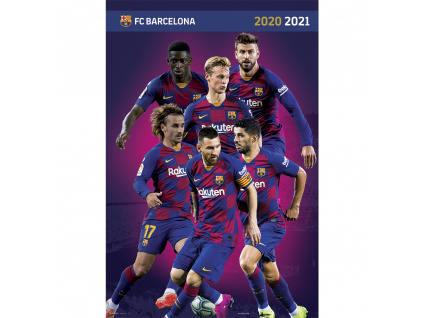 plakat fc barcelona hraci2020