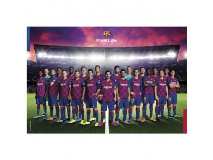 plakat fc barcelona team