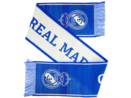 Klubová šála Real Madrid 140x20cm Azul