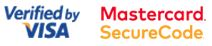 Verified by Visa + Mastercard Secure