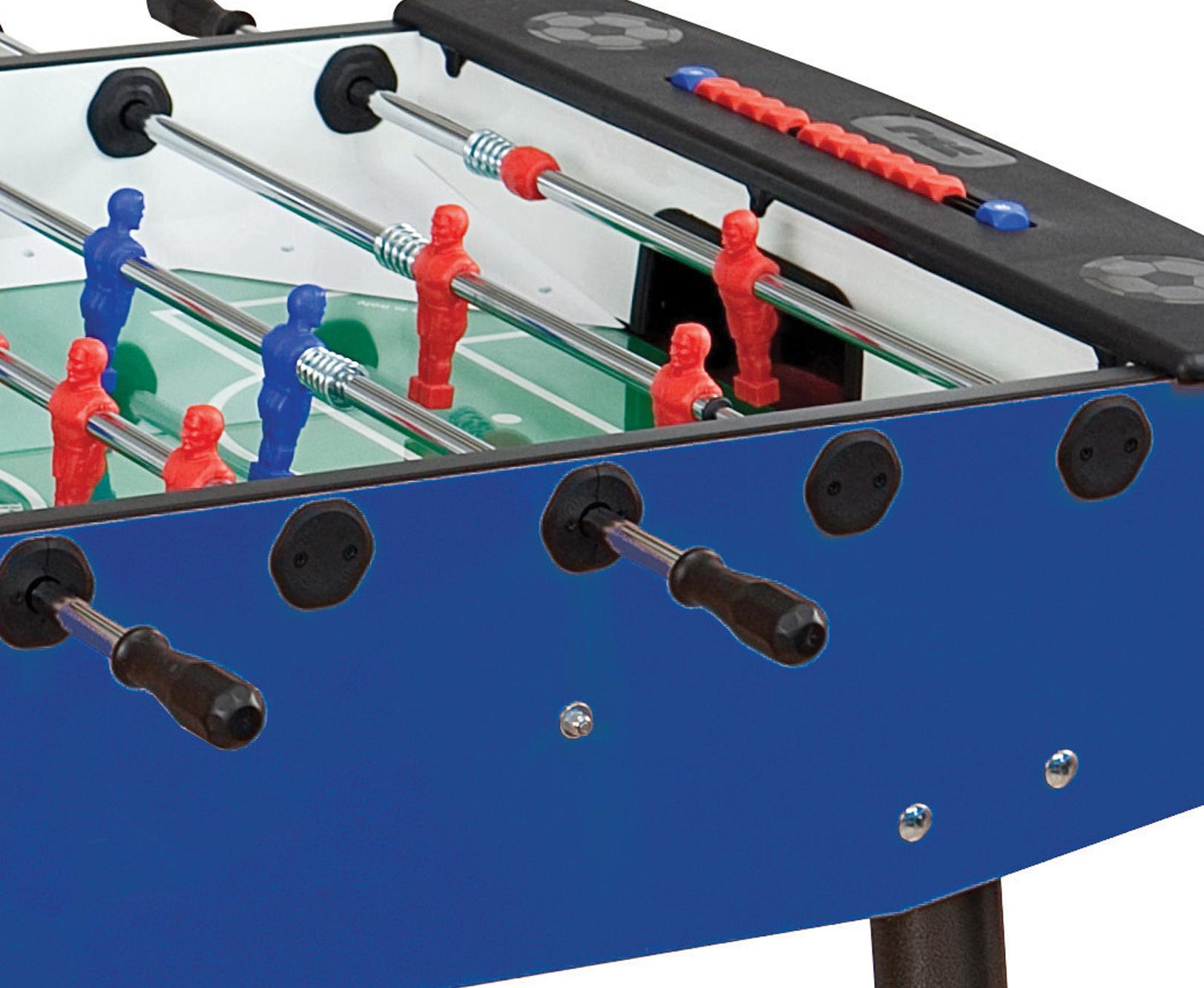 Výběr stolního fotbalu s průchozími nebo teleskopickými tyčemi