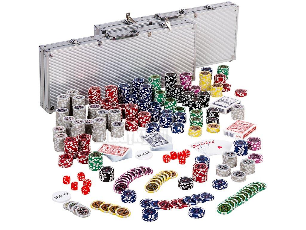 Poker Set - 1000 laserových žetonů Ultimate