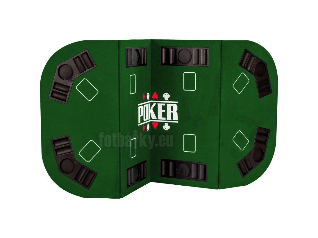 Skládací pokerová podložka zelená
