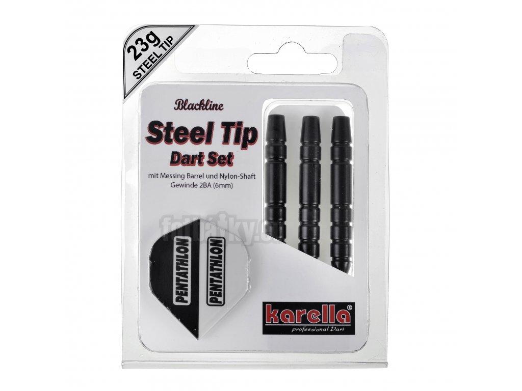 Karella šipky BLACKLINE steel 23g