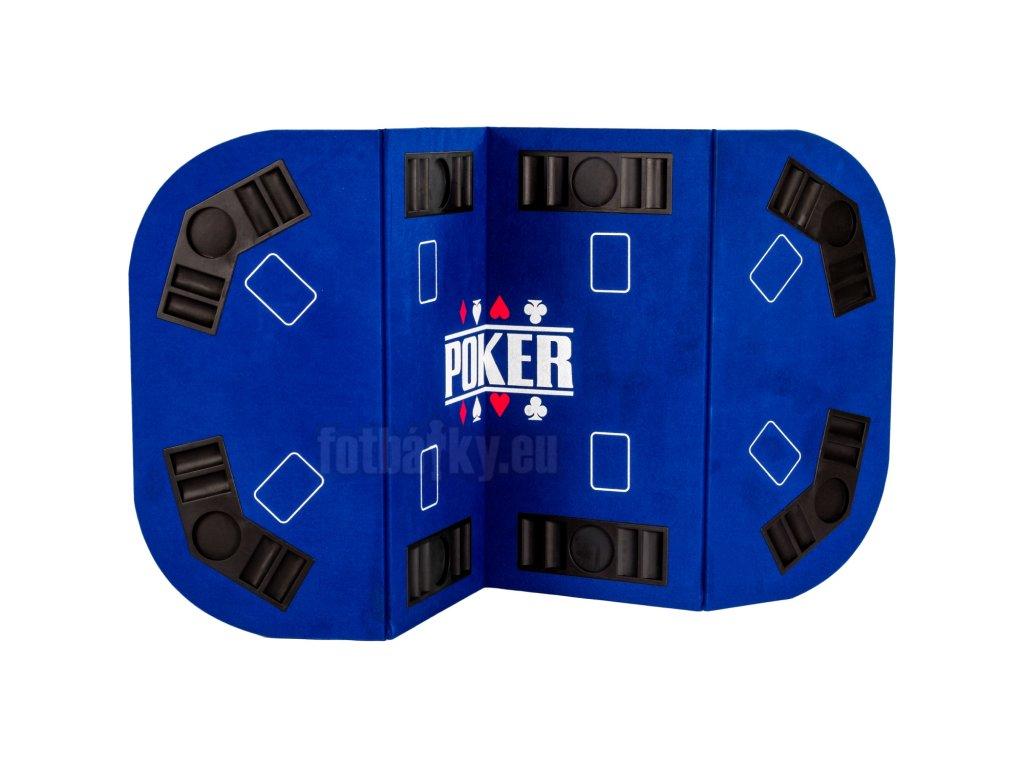 Skládací pokerová podložka modrá