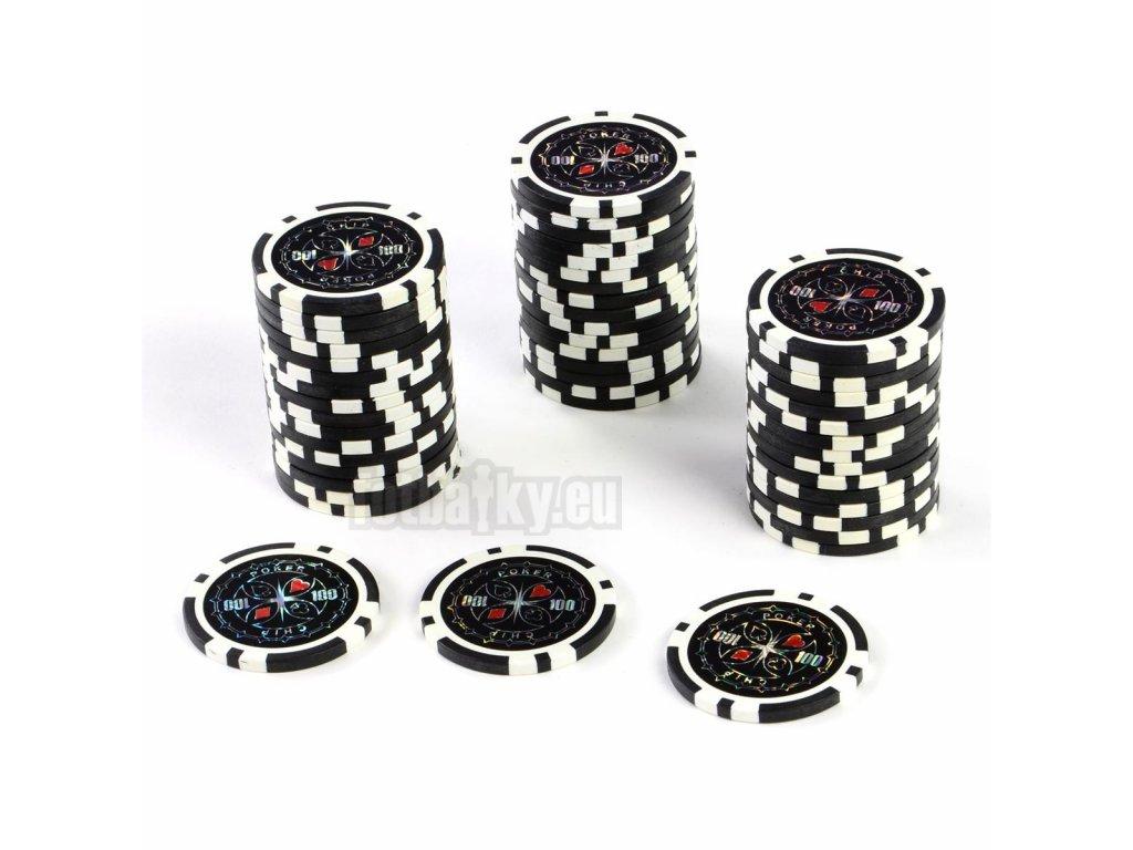 Kusový žeton na poker design Ultimate hodnota 100 - 25ks