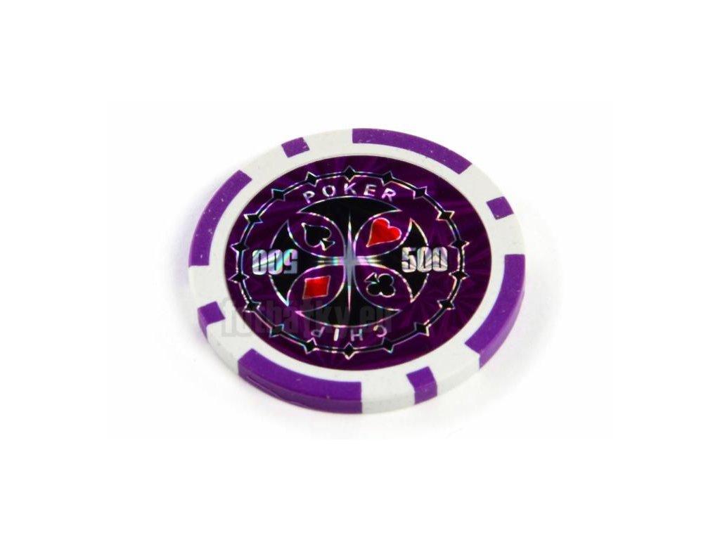 Kusový žeton na poker design Ultimate hodnota 500 - 25ks