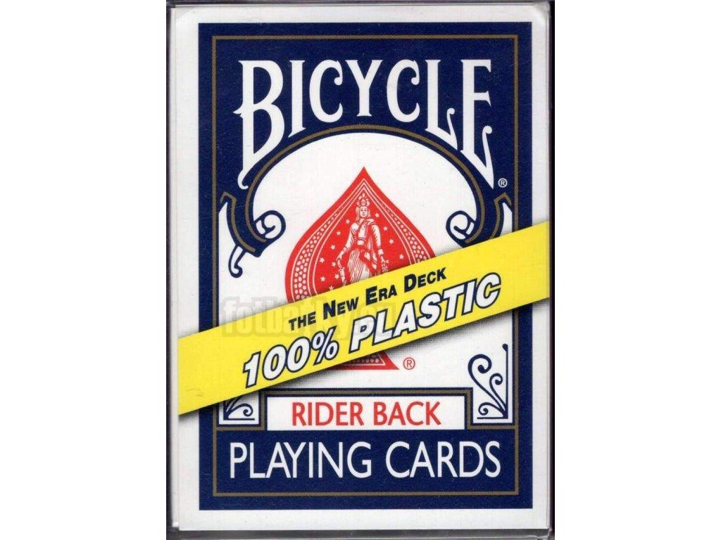 Karty na poker Bicycle - 100% plastic - Blue back