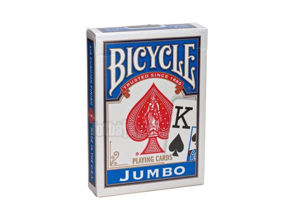 Bicycle Rider Back Jumbo Poker modré