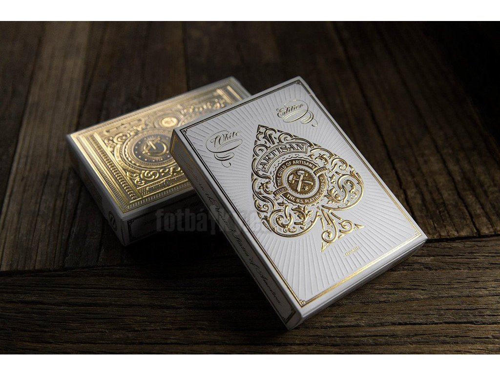 Karty na poker Jeu Artisan Blanc