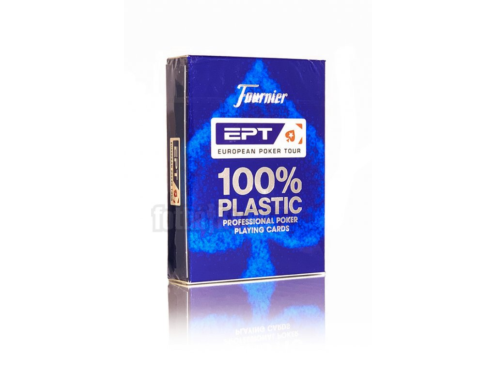 Poker karty Fournier EPT 100% Plastic - Index: Modrá