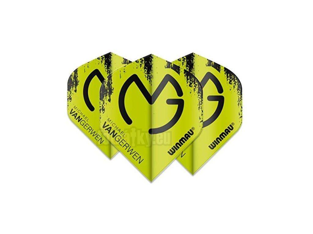 Winmau Letky Mega Standard - Michael van Gerwen - Black and Green