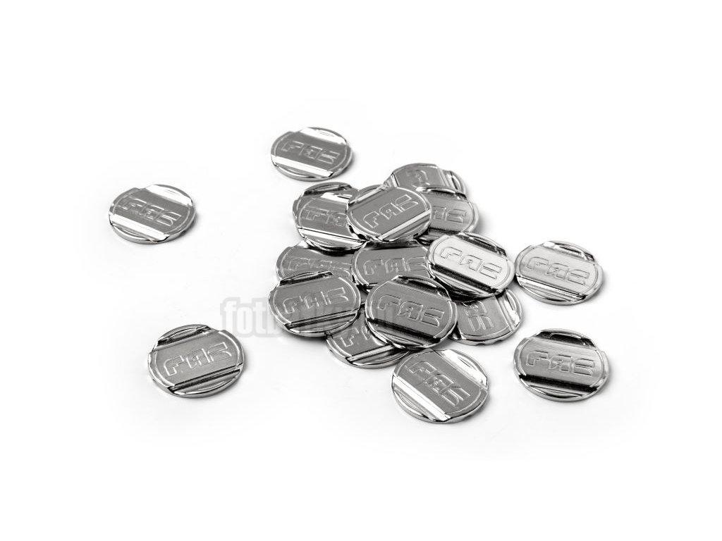 Kovový žeton FAS k mechanickému mincovníku