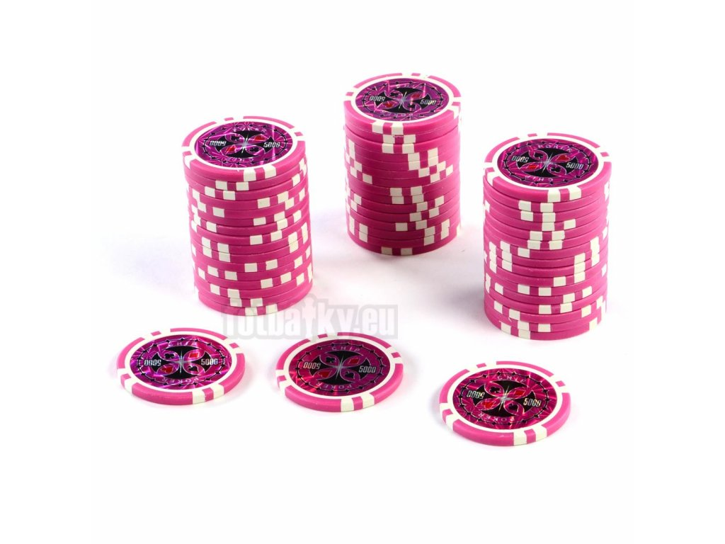 Kusový žeton na poker design Ultimate hodnota 5000 - 50ks