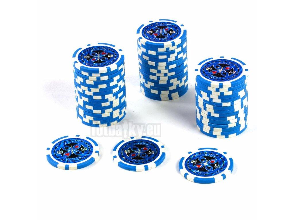 Kusový žeton na poker design Ultimate hodnota 50 - 50ks