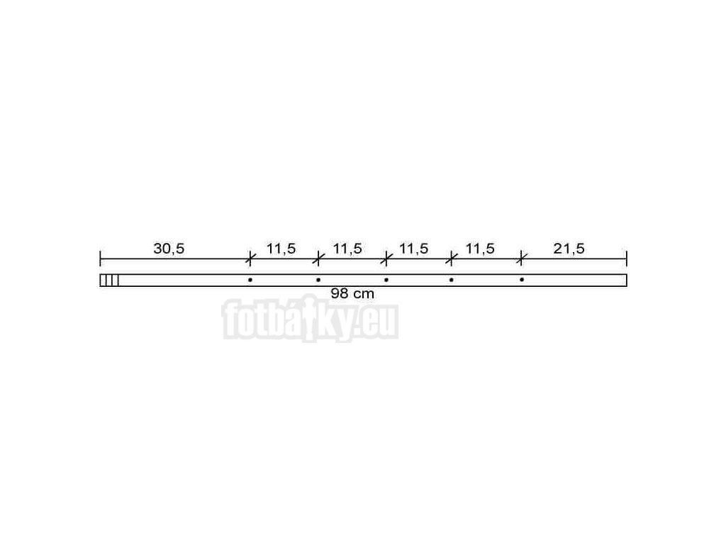 Tyč 5 bez hráčů – ocel, 16mm