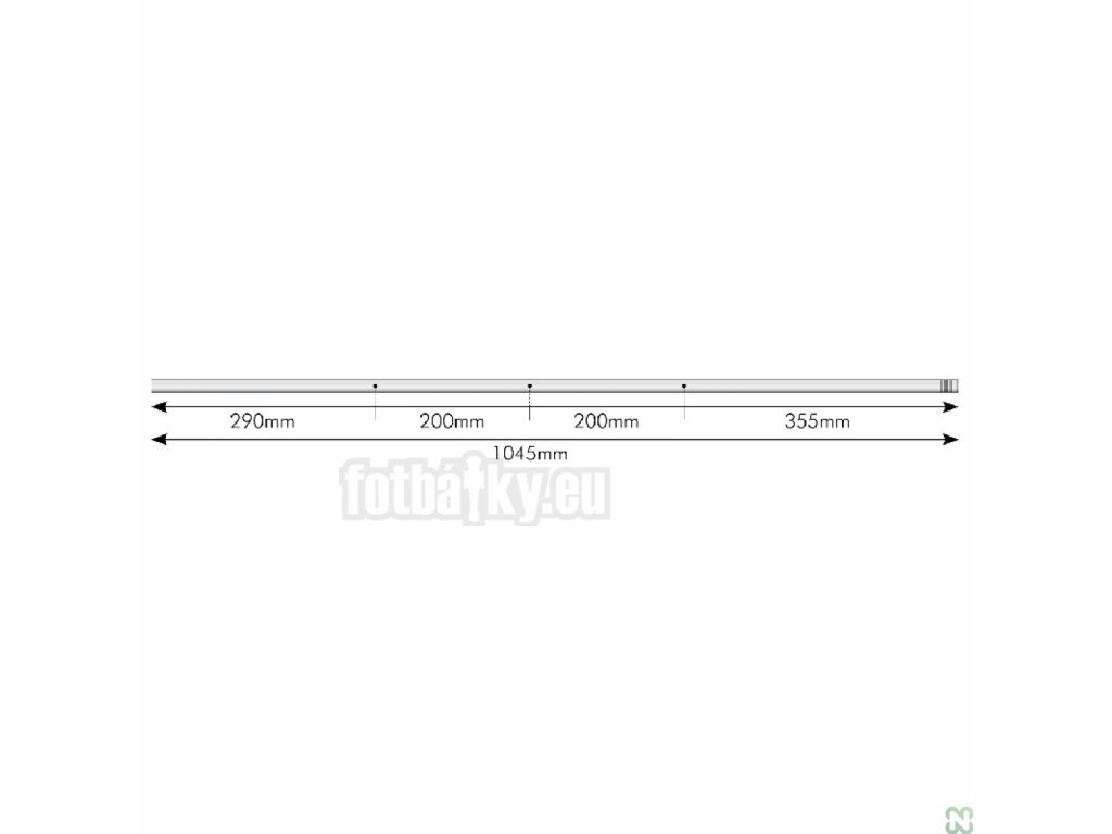 Tyč 3 bez hráčů – ocel 16mm x 1045 mm
