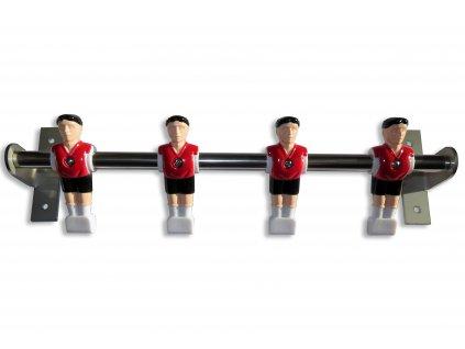 Věšák na zeď červený - stolní fotbal