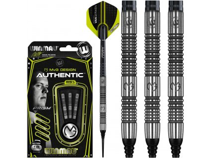 Šipky Winmau steel MvG Authentic 22g 85% wolfram