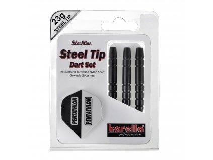 Karella šipky BLACKLINE steel 22g