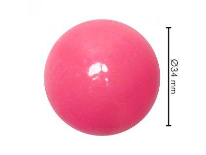 Míček tvrdý růžový