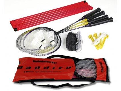 Bandito kompletní badmintonový set pro 4 hráče