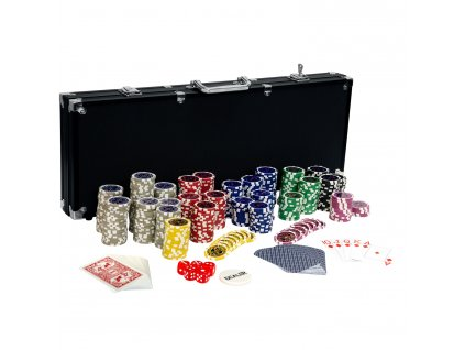 Poker Set - 500 laserových žetonů BLACK EDITION