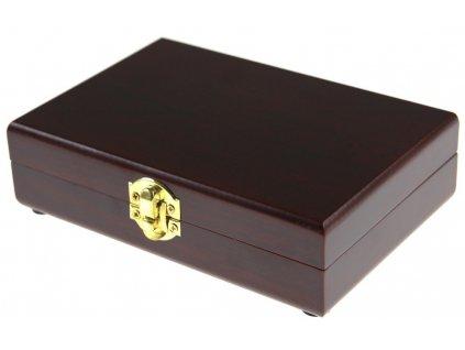 Dřevěná kazeta na hrací karty Poker