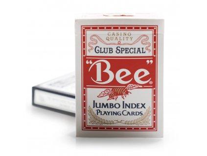 Poker karty Bicycle Bee Jumbo index - Červené
