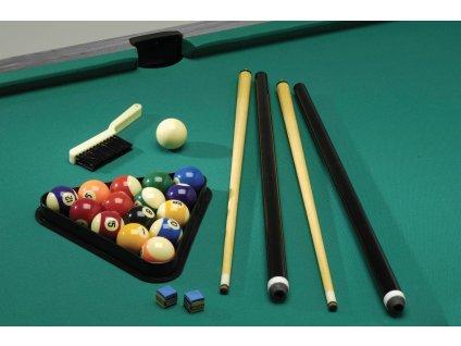 Kulečníkový stůl Garlando CHICAGO 4, hrací plocha 140x70 cm