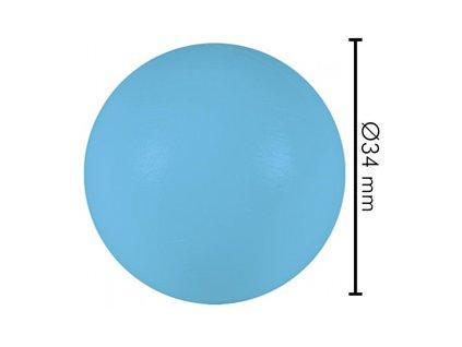 Míček tvrdý modrý